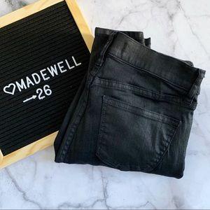 Madewell black Skinny Skinny Zip Racetrack jean 26
